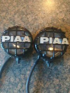 Piaa Fog Lights Pair 4 Inch Pf511 Series W Grilles Harness Tested Working