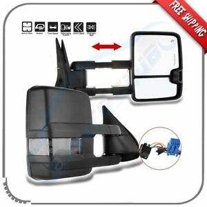 Tow Mirrors For 03 07 Chevy Silverado Sierra Power Heated Smoke Signal Backup