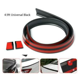 Universal 4 9ft Car Rear Rubber Wing Spoiler Tail Trunk Roof Trim Tail Sticker