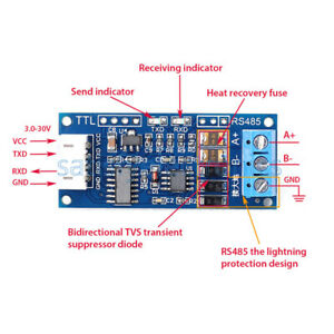 1x Ttl To Rs485 Converter Module 3 3v 5 0v Hardware Auto Control For Arduino Avr