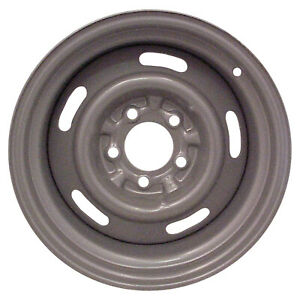 Steel Rally Wheel 15x8 5 Slot Silver 5x4 75 Bolt Pattern 4 Inch Back Space 69 82