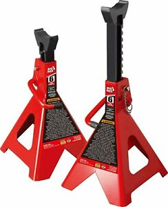 6 Ton Jack Stands Set Of 2 Heavy Duty Steel Auto Self Locking Ratchet Pawl Ansi