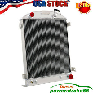 4 Rows Radiator For 1930 1931 Ford Model A For 1932 Ford Model B Chevy V8