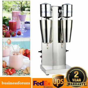 Commercial Stainless Steel Milk Shake Machine Double Head Drink Mixer Shaker Usa