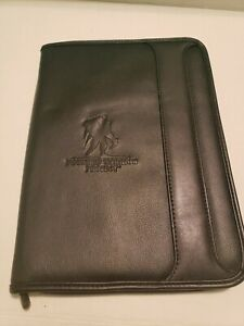 Black Wounded Warrior Project Zippered Padfolio