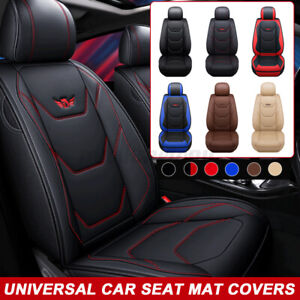 Universal Auto Seat Cover Protectors Breathable Pu Leather For Suv Van Car Truck