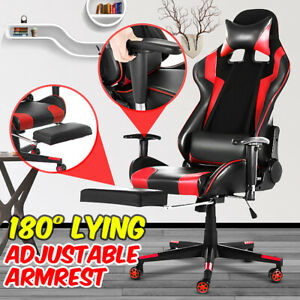 Executive High Back Office Chair Racer Gaming Chair Computer Leather Swivel Seat