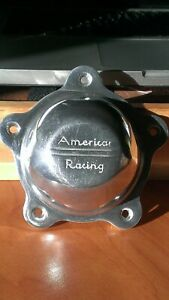 American Racing Polished Metal Center Caps W Screws For Torq Thrust Wheels