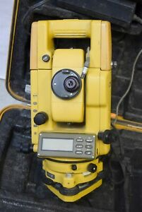 Topcon Gts 300 Total Station Surveying Instrument W Case