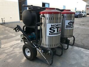 Two Northstar Electric Wet Steam Hot Water Pressure Washer 2750 Psi 2 5 Gpm