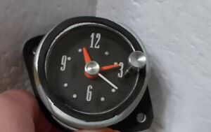 1962 Ford Galaxie Electric Clock Serviced Tested And Working Beautiful