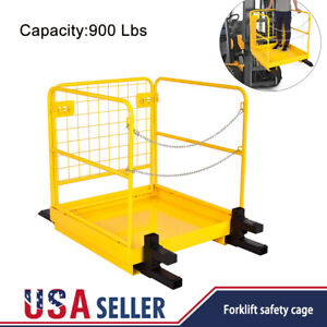 36 x 36 Forklift Work Platform Safety Cage Heavy Duty Durable 900lbs Capacity
