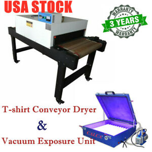 T shirt Conveyor Tunnel Dryer vacuum Exposure Unit 24 X 26 For Screen Printing