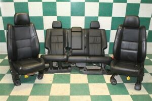 Dmg 11 12 Grand Cherokee Black Leather Power Heated Buckets Backseat Seats Oem