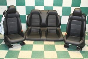 Dmg 18 20 Mustang Convertible Black Leather Heated Cooled Bucklets Backseat Oem