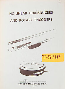 Toyoda Nc Linear Transducers And Rotary Encoders Manual Year 1989