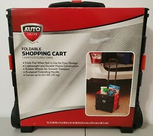 Auto Drive Portable Folding Dolly Shopping Cart Basket 2 Wheel Handcart