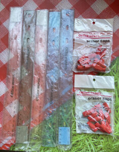 Plastic Rulers And Eraser Caps 5 Rulers And 2 Pack Eraser Caps All New
