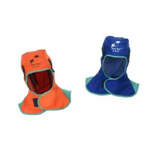 2pcs Flame Resistant Leather Welding Hood Safety Apparel Protective Headgear