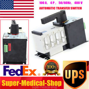 Automatic Dual Power Transfer Switch 100a 4p F Generator Changeover Switch Fast