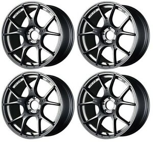 Ssr Gt X02 19x9 5 5x120 45 Dark Silver From Japan 4 Rims Jdm Wheels