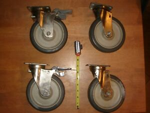 Jarvis Heavy Duty Industrial Casters Non marking 6 Inch Wheels set Of 4