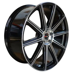 4 G42 20 Inch Staggered Black Rims Fits Ford Shelby Gt 500 2007 2020