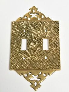 Vintage Brass Double Switch Cover Face Plate Home Decor