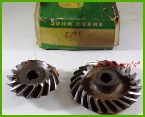 Ah701r H391r John Deere H Fan Shaft And Governor Gear And Pinion Set Nos Usa