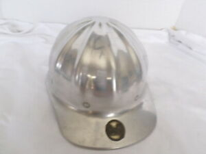 Vintage Superlite Fibre metal Aluminum Hard Hat Gradall Warner Swasey Co