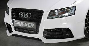 Audi Rs5 Look Oem Rieger Front Bumper With Cf Look Splitter 2008 12 B8 A5 S5 New