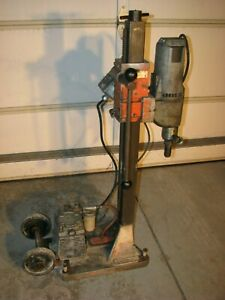 Milwaukee Core Drill Rig Dymodrill 4094 With Vacuum Pump