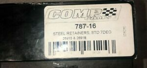 Comp Cams 787 16 Valve Spring Retainers 1 055 Od 0 640 Id 7 Degree Set Of 16