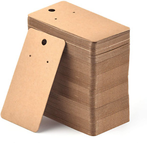 200 Pieces Earring Display Card Blank Kraft Paper 3 5 X 2 Inches Brown
