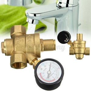 Dn15 Npt 1 2 Adjustable Brass Water Pressure Regulator Reducer W Gauge us