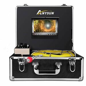 Anysun Pipe Pipeline Inspection Camera anysun 50m 165ft Cable Drain Sewer