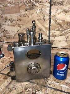 Antique Sterling Force Feed Lubricator Ratchet Drive Oiler Hit Miss Steam Engine