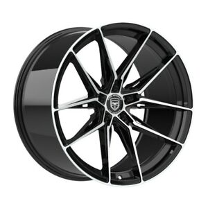 4 Hp1 22 Inch Black Machined Rims Fits Chevy Impala old Body Style 2014 2016