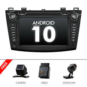 Cam Obd Dvr Android 10 Head Unit 8 Car Dvd Gps Radio Stereo For Mazda 3 2010 13