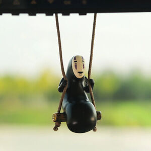 Car Pendant Ornaments Cute Anime Faceless Male Rearview Rope Hanging Decoration