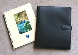 Monarch Blk Faux Leather Wire Bound Note Pad Folio Planner Cover Franklin Covey