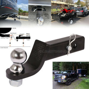 Ball Mount 2 Drop Trailer Hitch Fits 2 Receiver Hitch Pin Tow 6000lb 2 Shank
