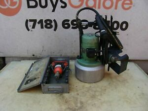 Thomas And Betts Electric Hydraulic Pump With Crimper Many Dies Works Great