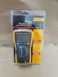 Fluke 116 True rms Ac dc Hvac Multimeter With Temperature And Microamp