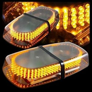 Amber 240 Led Light Mini Bar Roof Top Emergency Hazard Warning Flash Strobe