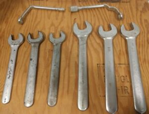 6 Vintage Armstrong Armaloy Williams Superrench Open End Service Wrenchs