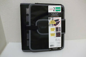 New Five Star Quick Tab Black Gray Zipper 3 ring Binder 2 580 Pages Capacity
