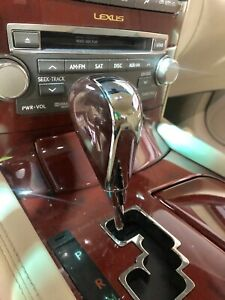 Lexus Ls460 Ls600hl Brown Wood Chrome Shift Knob Luxury Edition Burl Wood