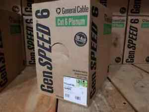 New 1000ft General Cable 7131806 Cat 6 Plenum Green 23 Awg Cmp Cat6 Genspeed