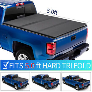 Hard Tri Fold Jeep Tonneau Cover For 2019 2020 Gladiator Sport 5 Ft Truck Bed